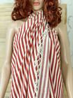 Zebra Slim Hammam Towel Tile Red
