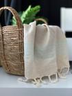 Hand/Face Linen Hand-loomed Hammam Towel Aqua