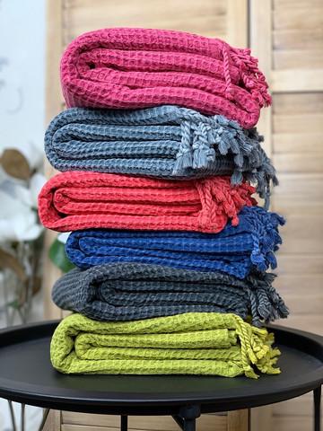 Hammam Towel Set Stonewashed Waffle 6 pcs