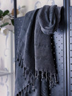 Stonewashed Stripe Hammam Towel Anthracite
