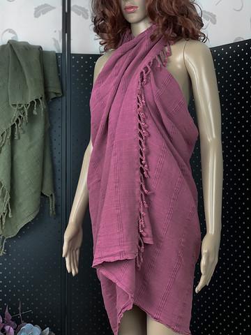 Kivipesty Stripe Hamam-pyyhe Fuksia