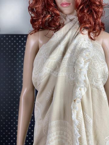 XL Jacquard Hamam Handduk Mantra Beige