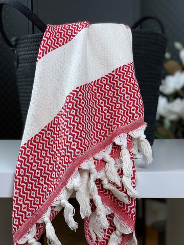 Marquise Hammam Face/Hand Towel Red