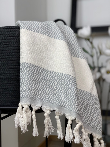 Marquise Hammam Face/Hand Towel Light Grey