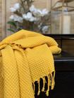 Stonewashed Waffle Hammam Towel Ochre