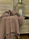 Stonewashed Stripe Hammam Towel Mocha