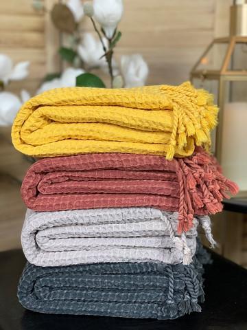 Hammam Towel Set Stonewashed Waffle 4 pcs