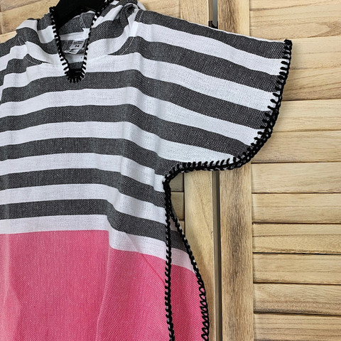 Kids' Poncho size S Anthracite-Candy