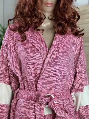 Hammam Bathrobe Diamond Candy Pink XL
