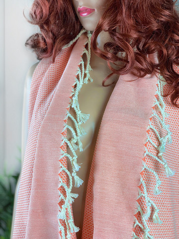Pastel Hamam-pyyhe Koralli