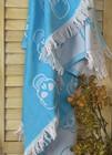 Jacquard Hammam Towel Skull Turquoise