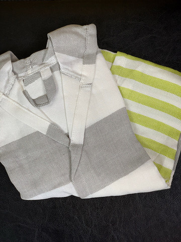 Kids' Hammam Bathrobe Gray-Pistachio 3-5y