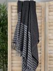 Big Diamond Hammam Towel Black