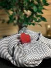 Big Diamond Hammam Towel & Hand made Heart Soap set