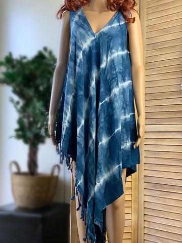 Hamam Klänning Batik Bambu Cosmic Blue