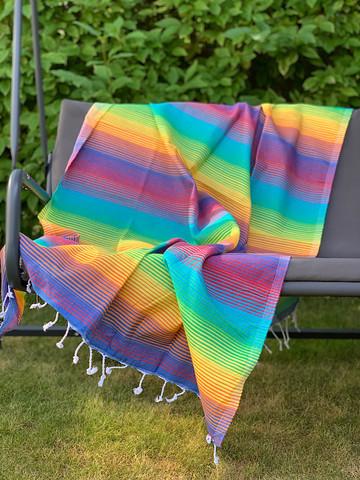 Beach Hammam Towel Vivid Rainbow