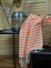 Zebra Slim Hammam Towel Orange