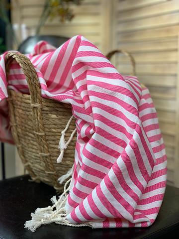 Zebra Slim Hammam Towel Candy Pink