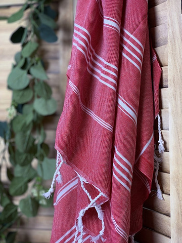 Sultan Hammam Towel Red