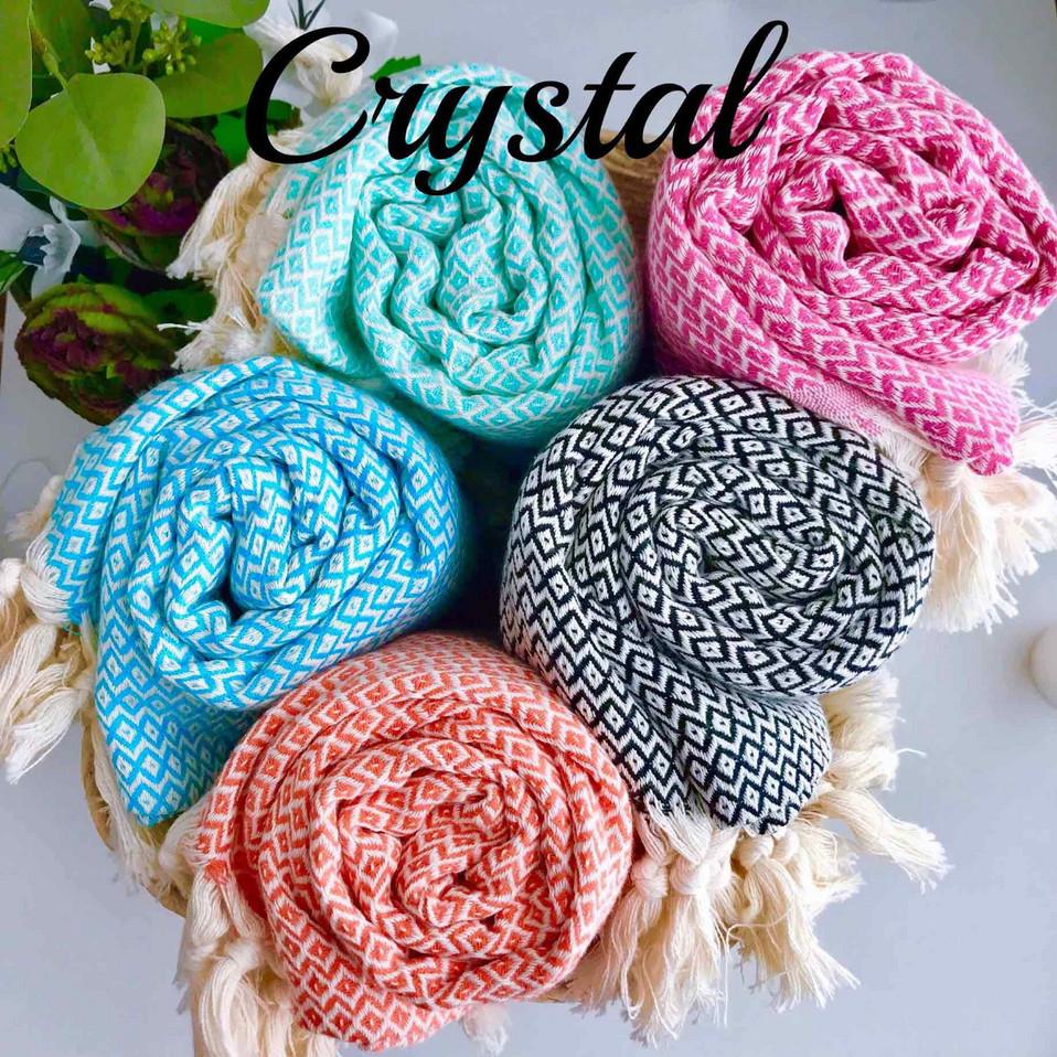 hamam-pyyhkeet käsinkudotut crystal