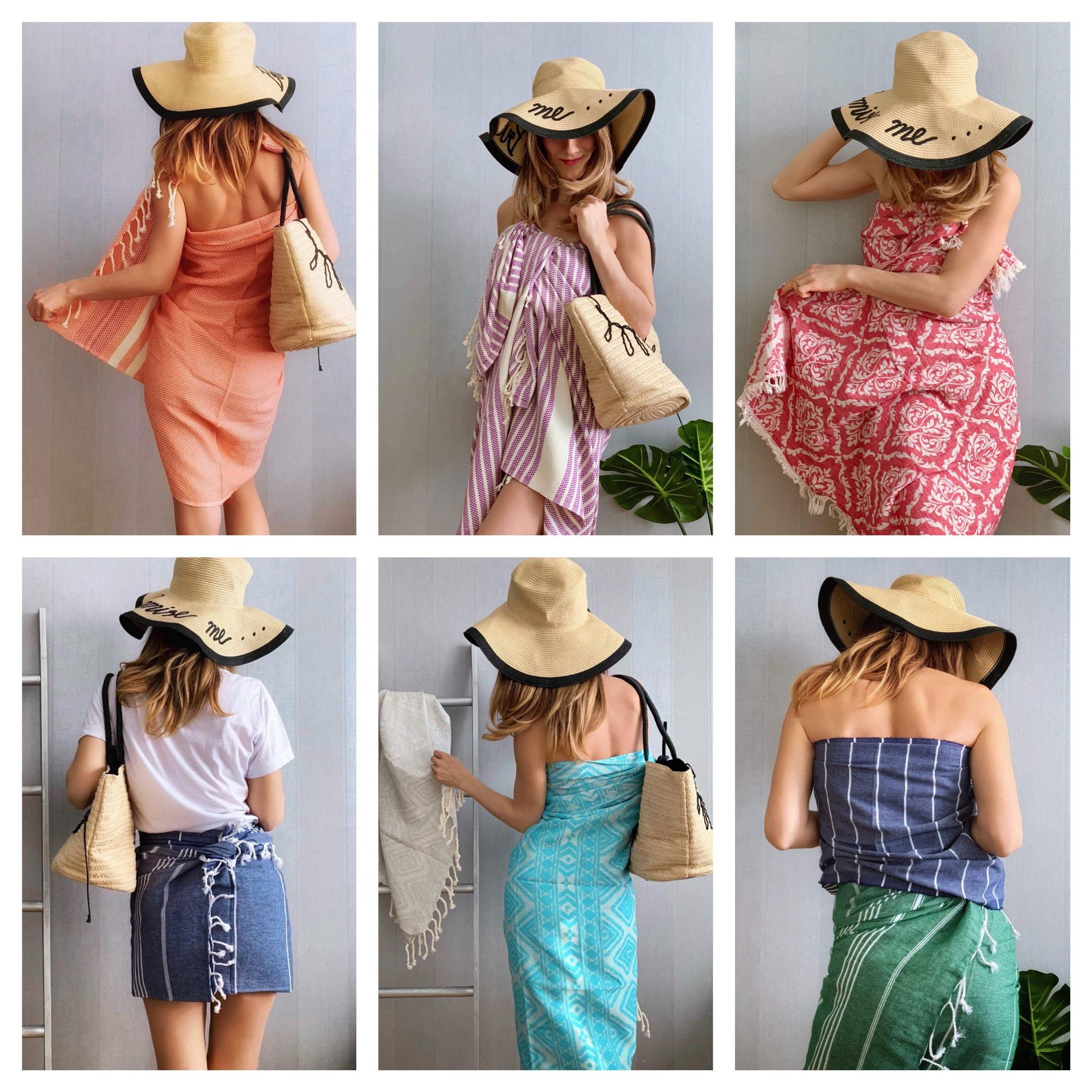 Tee upea mekko hamam-pyyhkeestä! Tänä Kesänä Ole Rannan Tyylikkäin!