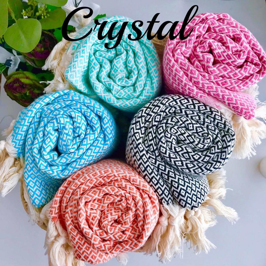 hand-loomed crystal hammam towels