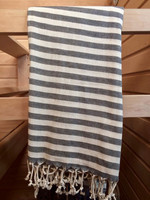 Stripe Hammam-towel Grey