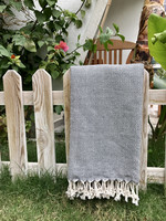 Diamond Hammam-towel Grey
