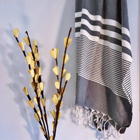 Aegean Hammam Towel Dark Grey