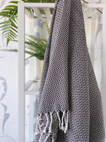 CRYSTAL Handloomed  Hammam Towel Black