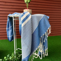 Aegean Hammam Towel Denim Blue