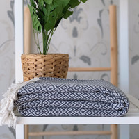 Crystal Hand-loomed Hammam Towel Grey