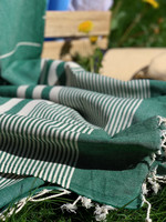 Aegean Hammam Towel Dark Green
