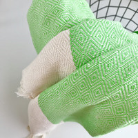 Diamond Handloomed Hammam Towel Pistachio