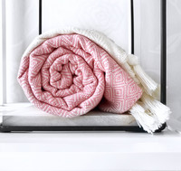 Diamond Hand-loomed Hammam Towel Rose