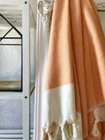 Diamond Hand-loomed Hammam Towel Orange