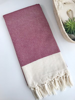 Diamond Hand-loomed Hammam Towel Plum