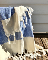 Diamond Hand-loomed Hammam Towel Denim Blue