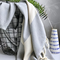 Diamond Hammam Towel Grey