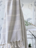 Sultan Slim Hammam Towel Light Grey