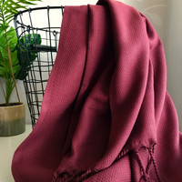 Ephesus Hammam Towel Wine Red