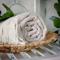 CRYSTAL Hammam Towel Handloomed Beige