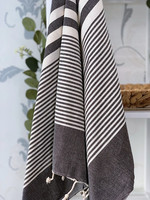 Aegean Hammam Towel Black