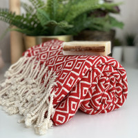 Diamante Hand-loomed Hammam Towel & Olive Oil Soap Set