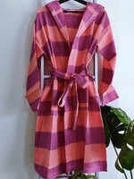 Hammam Bathrobe Purple-Coral M