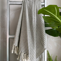 Zebra Hammam Towel Black