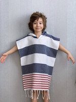 Kids' Poncho size M Surf Denim