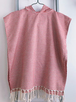 Kids' Poncho size L Zebra Red