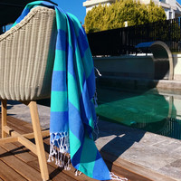 Sunset Hammam Towel Ocean Blue-Mint