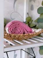 Diamond Hammam Towel Fuchsia